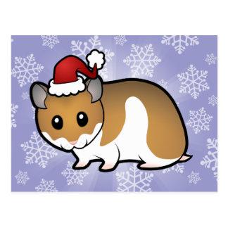 Carte Postale Hamster de Syrien de Noël
