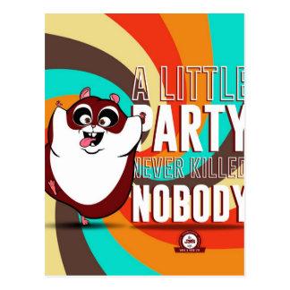 Carte Postale Hamster Party