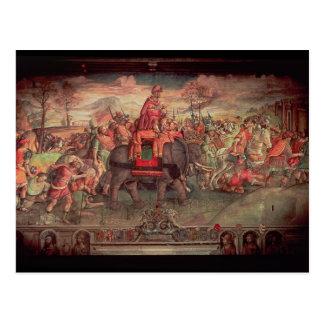 Carte Postale Hannibal croisant les Alpes