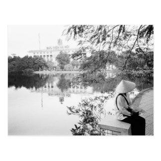 Carte Postale Hanoï vue de Vietnam, lac Hoan Kiem (NR)