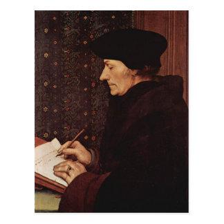 Carte Postale Hans Holbein - portrait de Desiderius Erasmus