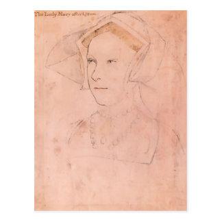 Carte Postale Hans Holbein Queen Mary plus jeune I Tudor