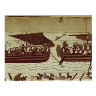 Carte Postale Harold croise la Manche avec des voiles pleines de