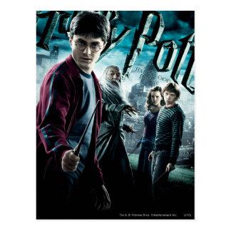 Carte Postale Harry Potter avec Dumbledore Ron et Hermione 1