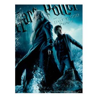 Carte Postale Harry Potter et Dumbledore sur les roches 1