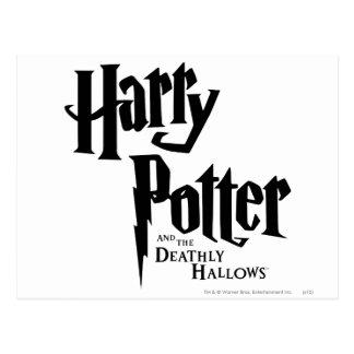 Carte Postale Harry Potter et le de mort sanctifie le logo 2