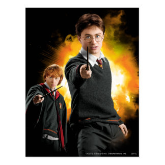 Carte Postale Harry Potter et Ron Weasely