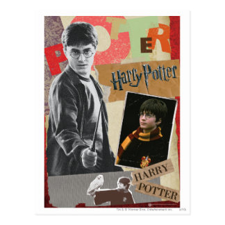 Carte Postale Harry Potter puis et maintenant