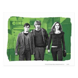 Carte Postale Harry, Ron, et Hermione 1