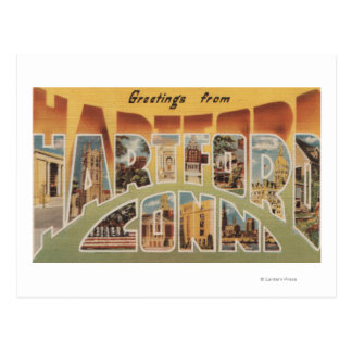 Carte Postale Hartford, le Connecticut - grandes scènes 3 de