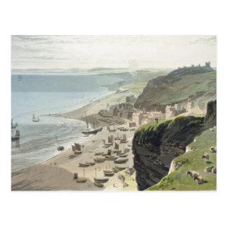 Carte Postale Hastings, de la falaise est, 'd'un voyage Arou