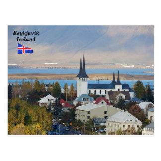 Carte Postale Háteigskirkja, Reykjavik, Islande