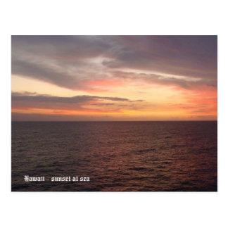 Carte Postale Hawaï 2008 (394), Hawaï - coucher du soleil en mer