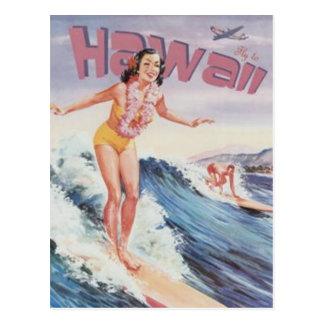 Carte Postale Hawaï vintage, Etats-Unis -