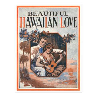 Carte postale hawaïenne d'amour