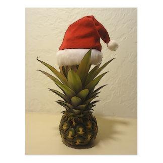 Carte postale hawaïenne de casquette de Père Noël