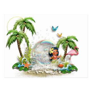 Carte postale hawaïenne mignonne