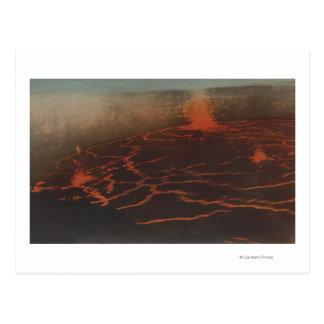 Carte Postale HawaiiView des traînées de lave dans KilauerHawaii