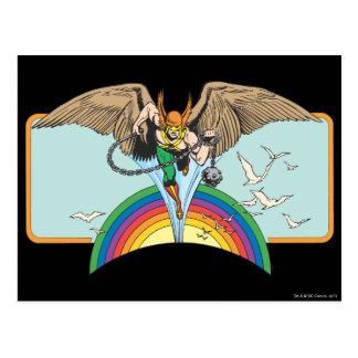 Carte Postale Hawkman vole par le ciel