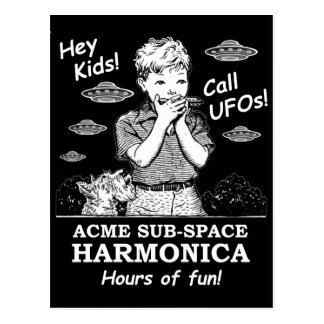 Carte Postale Hé enfants ! Appel UFOs !
