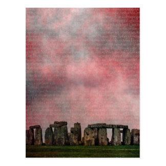 Carte Postale Henge en pierre de texture