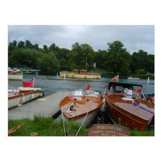 Carte Postale Henley sur la Tamise, canots automobiles