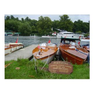 Carte Postale Henley sur la Tamise, canots automobiles antiques