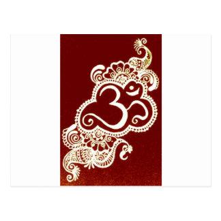Carte Postale Henné de rouge de mehndi de l'Inde