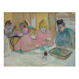 Carte Postale Henri De Toulouse-Lautrec - dames dans la salle à