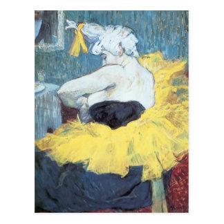 Carte Postale Henri De Toulouse-Lautrec : Le clownesse Cha u Kao