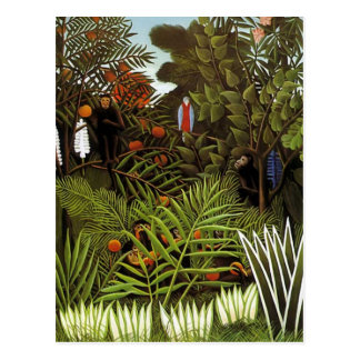 Carte Postale Henri Rousseau - paysage de jungle