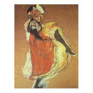 Carte Postale Henri Toulouse Lautrec - danse de Jane Arvil