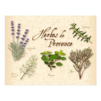 Carte Postale Herbes De Provence, recette, lavande, thym,