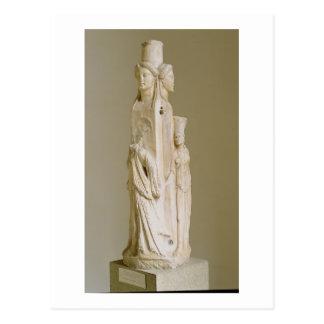 Carte Postale Herm triforme de Hecate, sculpture de marbre, pe