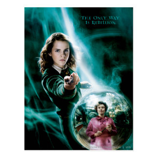 Carte Postale Hermione Granger et professeur Umbridge