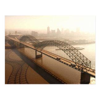 Carte Postale Hernando de Soto Bridge à Memphis