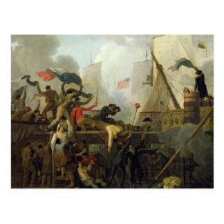 Carte Postale Héroisme de l'équipage de 'Le Vengeur du Peuple