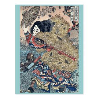 Carte Postale Héros de Kinhyoshi de Suikoden par Utagawa,