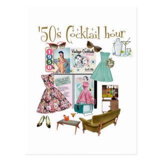 Carte Postale heure de cocktail des années 50