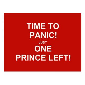 Carte Postale Heure de paniquer ! Juste un prince laissé !