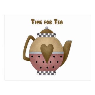 Carte Postale Heure pour le thé