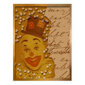 Carte postale heureuse de clown