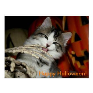 Carte postale heureuse de Halloween (lèchement de
