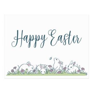 Carte postale heureuse de Pâques