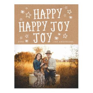 Carte postale heureuse de photo de Noël de