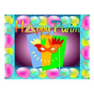 Carte postale heureuse de Purim