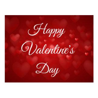 Carte Postale Heureuse Sainte-Valentin rouge classique de coeur