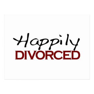 Carte Postale Heureusement divorcé