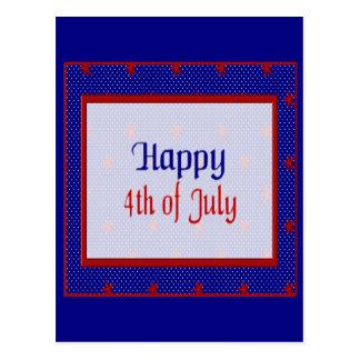 Carte Postale Heureux 4 juillet, le rouge se tient le premier