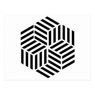 Carte Postale Hexagones